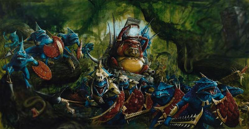 Warhammer battle-Hommes lezards-Skinks-Corps 1